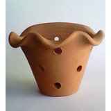 Vaso Cerâmica Crua Parede Decoração Enfeites Arranjos Furos