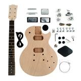 Kit De Guitarra Desmontada Les Paul Hh Em Mogno Sku048