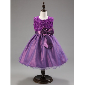 Vestido De Niñas Fiesta Elegante Moda Ropa Hermoso Talla 6