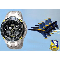 Relógio Citizen Skyhawk Blue Angels Jr3090-58m 12x S/juros