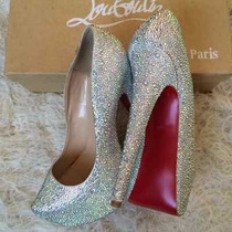 Sapato Cinderela Cristal Scarpin Feminino Brilhante Noivas