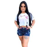 Shorts Jeans Premium Estrela Hot Pants Planet Girls