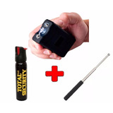 Kit Defensa Personal Taser Stun Gun Toques + Gas + Baston