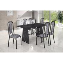 Conjunto Madmelos Com 6 Cadeiras Mesa Em Granito