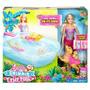 Boneca Barbie Família Filhotinho Na Piscina Mattel Dmc32