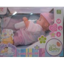 Muñecas Tutu Love Lovely Baby Doll 6 Funciones C/ Accesorios