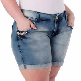 Promoção 3 Shorts Jeans- Plus Size Feminino Lycra- Qualidade