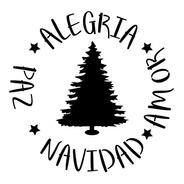 Las Lupes Navidad - Stencil Rueda Navideña - 20 X 20cm