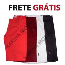 Kit 5 Bermudas Shorts Masculina Jeans Sarja Frete Grátis