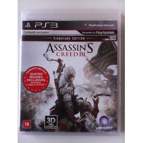 Assassins Creed 3 Ps3 Mídia Física Legendado Br Perfeito