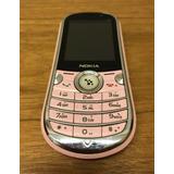 Celular Nokia Dual Chip Rosa - Funcional S/ Bateria - Novo!
