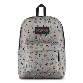 Mochila Jansport Disney Superbreak Mickey Donald Pluto Cinza