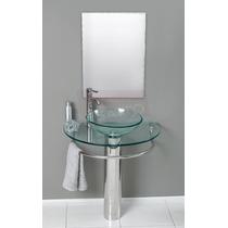 Esatto® Mueble De Baño Lavabo Cristal Cromo Espejo Mv-001