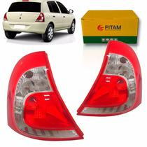 Par Lanterna Traseira Renault Clio 2013 2014 2015 2016 Fitam