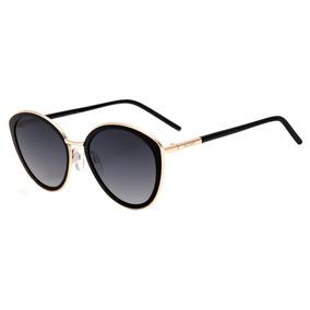 Bulget Bg 5142 - Óculos De Sol A01 Preto E Dourado Brilho/
