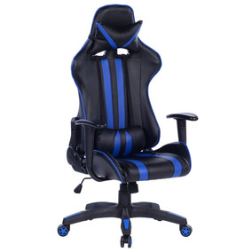 Cadeira Gamer Daytona Preta E Azul