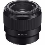 Lente Sony Fe 50mm F1.8 Sel50f18f Montura E Full Frame