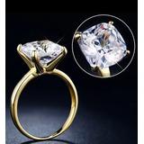 Lujosos Anillos Compromisos Diamante Laminados Oro 18k
