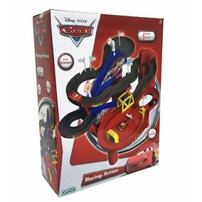 Cars Pista Racing Action Luz 3 Autos Ori Ditoys Casa Valente