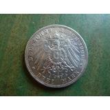 Moneda Alemana 3 Marcos 1909 Plata - Vp