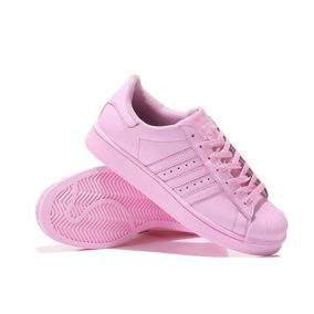 Zapatillas adidas Superstar De Mujer Rosadas Importadas!!!