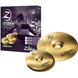 Set Platos Zildjian Planet Z3 Crashride16 Hihat13 Palillos