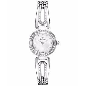 Reloj Bulova 96l126 De Pulsera Con Cristales Mujer Original