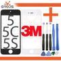 Tela Vidro Lente Iphone 5 5c 5s Original + Cola 3m + Chaves