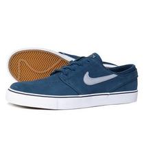 Tenis Nike Sb Zoom Stefan Janoski Azul/blanco Piel Caballero