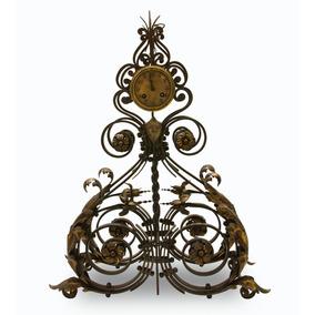 Antiguo Reloj Francés En Hierro Forjado. Muy Decorativo