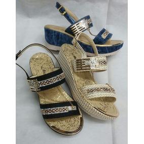 Sandalia Plataforma De Moda Zapatos De Mujer Colombiano Dama