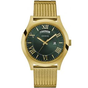 df8082cb7fe Relogio Guess Masculino Metal Dourado W0009g2 Euro - Relógios De ...