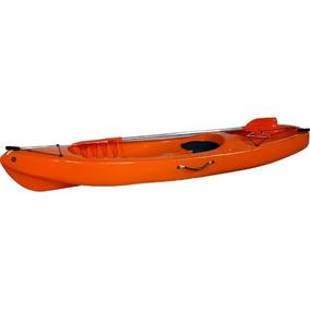 Caiaque Pinguim Laranja Caiaker Canoa Remo Fibra Pesca