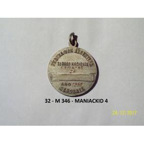 Medalla Federacion Argentino De Handball 8,3 Gr 27 Mm