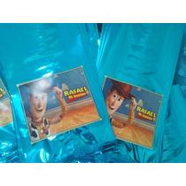 50 Bolsas Celofan Color Personalizada, Todos Personajes