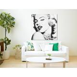 Quadro Grande Marilyn Monroe Preto E Branco Tela Canvas T67