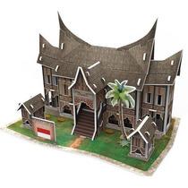 Quebra-cabeça 3d (6735) Miniatura 30pcs Residence Indonesia