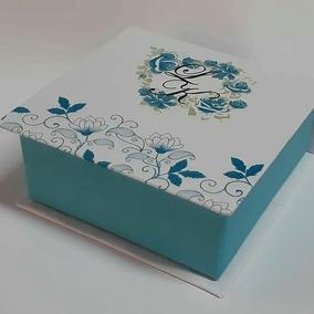 15 Caixas 10x10x4 Personalizada Casamento Trufas Debutante