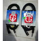 Cable Para Micrófono De 3 M.