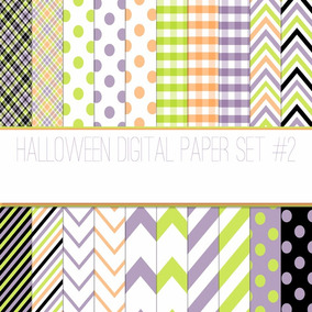 Kit Imprimible Pack Fondos Halloween 78 Clipart