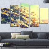Quadro Decorativo Abstrato Natureza Com Flores De Camomila