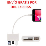 Lector Adaptador Sd Micro Sd (tf) Usb Iphone 8 Pin X 5 6 7 8