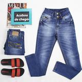 Calça Skinny Jeans Zíper Atrás Cós Médio Frederika
