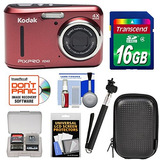 Cámara Digital Kodak Pixpro Friendly Zoom Fz43 (rojo) Con T