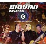 Cd Duplo Biquini Cavadao Me Leve Sem Destino (vivo 2014)