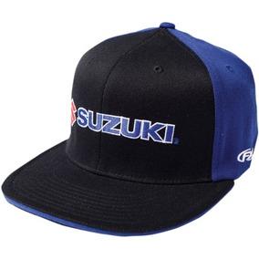Gorra Factory Effex Suzuki Hombre Flexfit Negro azul Lg xl 924250ab424