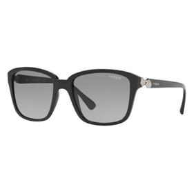 Oculos Sol Vogue Vo5093sb W44 11 54 Preto Brilho Lente Cinza