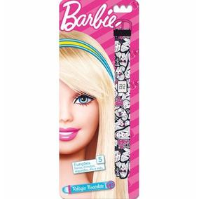 Relógio Bracelete Barbie Digital Led Infantil 5 Funções