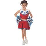 Patriotic Cheerleader (red) Niño Traje Tamaño | Juguetes