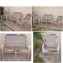 Kit 2 Cadeira + 1 Namoradeira Banco Em Vime Fibra Sintetica